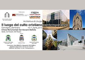 Seminario, Il luogo del culto cristiano contemporaneo, chiesa S.G.B., Pesaro (PU) Italy, 2015